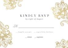 Elegant Henna - RSVP card