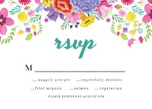 Fiesta Flowers - RSVP card