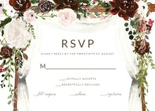 Floral canopy - RSVP card
