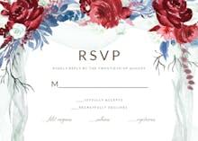 Floral canopy - Tarjeta De Confirmación De Asistencia A Eventos