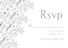 Floral decorations - RSVP card