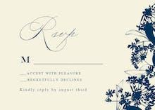 Floral Edges - RSVP card