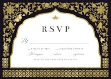 Floral gate - RSVP card