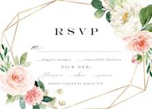 Floral polygon frame - RSVP card