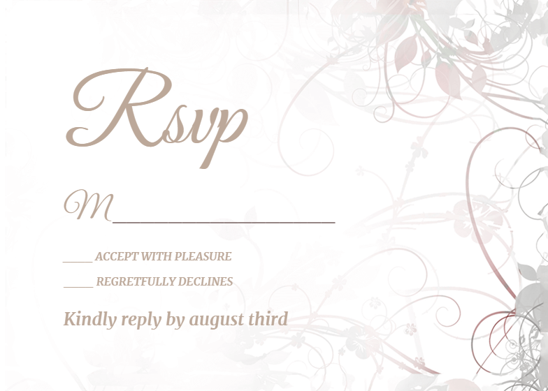 photo relating to Free Printable Rsvp Cards named RSVP Card Templates (Cost-free) Greetings Island