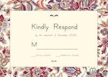 Floral wedding tapestry - RSVP card