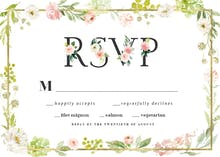 Frame and floral RSvp - RSVP card