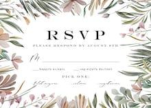 Garden frame - RSVP card