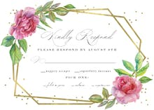 Geometric roses - Tarjeta De Confirmación De Asistencia A Eventos