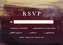 Gilded Aubergine - RSVP card