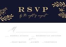 Gold Leaf Border - RSVP card