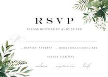 Greenery Border - RSVP card