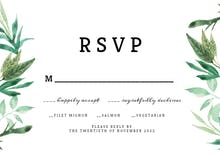 Greenery double - RSVP card
