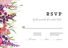 Hand Painted Floral - Tarjeta De Confirmación De Asistencia A Eventos