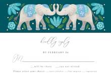 Indian Elephants RSVP - RSVP card