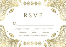 Indian floral paisley - RSVP card