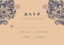 Indian floral - RSVP card