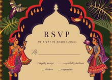 Indian lovers - RSVP card