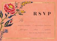 Indian wild flower & frame - RSVP card