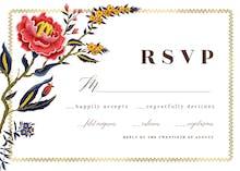 Indian wild flower & frame - Tarjeta De Confirmación De Asistencia A Eventos