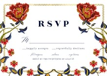 Indian wild flowers & frame - RSVP card