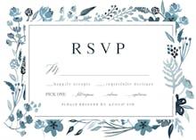Indigo Flower Border - RSVP card