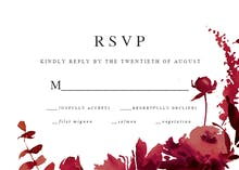 Indigo Flowers - RSVP card