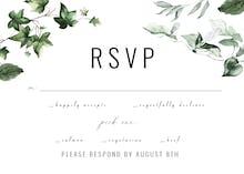Ivy and Sage - RSVP card
