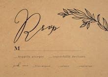 Kraft Branches - RSVP card