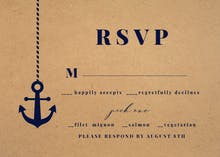 Kraft Nautical - RSVP card