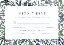 Leafy Frames - RSVP card