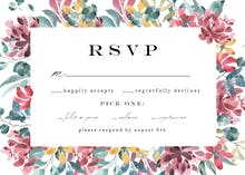 Lively flowers - RSVP card