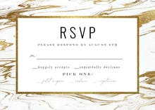 Marble - RSVP card