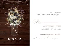 Monogram wood - RSVP card