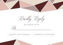 Mosaic Wedding - RSVP card