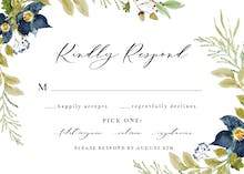 Oak And Berry - RSVP card