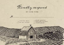 Old Barn - RSVP card