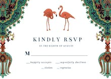 Oriental flamingos - RSVP card