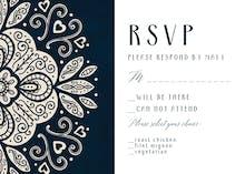 Ornate wedding - RSVP card