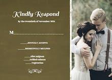Our Wedding - RSVP card