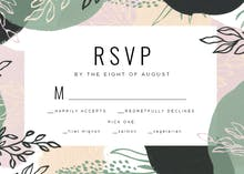 Paint Shapes - RSVP card