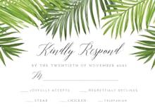 Palm Leaves - RSVP card