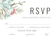 Pastel Boho - RSVP card