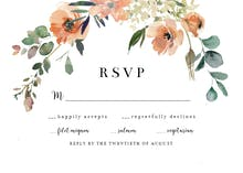 Peach & Cream Florals - RSVP card