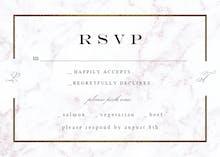 Pearl Background RSVP - RSVP card