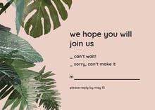 Philodendron - RSVP card