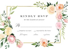 Pink Botanical Wreath - RSVP card