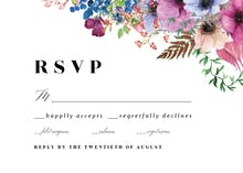 Purple Bouquet RSVP - RSVP card