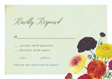 Ranunculus Flowers RSVP - RSVP card