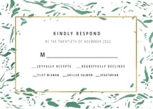Rushed flakes - Response card
